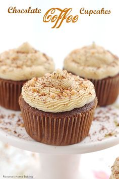 coffee cupcake recipes, chocolates, coffee cupcakes recipes, home baking, frosting recipes, chocol coffe, buttercream frosting, coffe cupcak, dessert