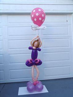 Esculturas de bailarina para decorar con globos de tubito para fiestas infantiles.  #FiestasIfantiles