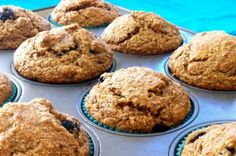 Whole Wheat Blueberry Banana Flax Muffins by Eat Spin Run Repeat