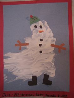 Fingerpaint snowman. I LOVE TO FINGERPAINT