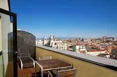 Terraza habitación estándar Vincci Capitol 4* (Madrid)