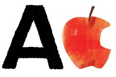 A is for apple, fun crafts and learning activities with my 3 year old and 7 year old.