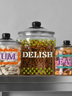 DIY Charlotte Jars are the perfect way to store all your yummy kitchen snacks. :)