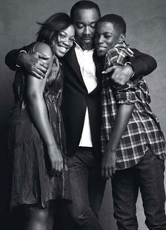 Lee Daniels with 14-year-old twins Clara and Liam - Read more: http://www.wmagazine.com/celebrities/2010/12/family_issue_portfolio_s10