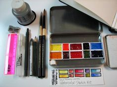 i love looking at people's travel sketch/watercolor kits