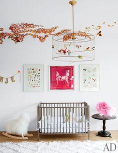 butterflies, white walls, great art