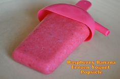 Raspberry & Banana Frozen Yogurt Lollies
