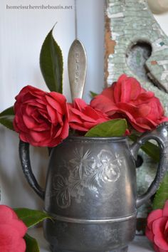 Bliss, stamped flatware & camellias