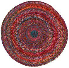 Amazon.com - Extra Weave USA Carnivale Braided Rug, 5-Feet Round
