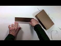 Vertical Paper Bag Mini Album Series Part 2 - Creating the Binding