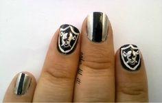 Oakland Raiders Nails