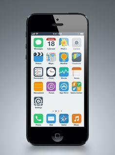 iPhone Flat UI Concept / Anton Kovalev