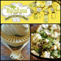 MacaRona and Sweet Tea: Brenda's Cauliflower Layer Salad (and the Harvest Gold Tupperware serving bowl)