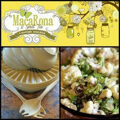 MacaRona and Sweet Tea: Brenda's Cauliflower Layer Salad (and the Harvest Gold Tupperware serving bowl)