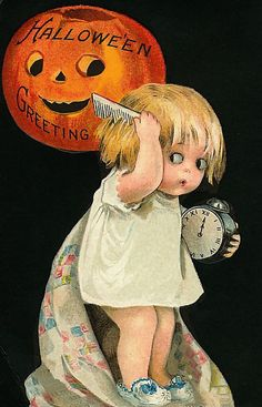 vintage Halloween Greeting {this is making me laugh, mostly because I don't get it}