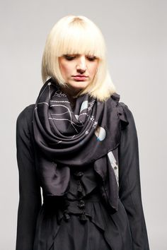 Koshka - Forget Me Not Black Jewelry Silk Scarf, €163,89 (http://www.shopkoshka.com/new-in/forget-me-not-black-jewelry-silk-scarf/)
