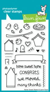 *Lawn Fawn HOME SWEET HOME Clear Stamps