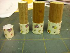 Dollhouse Miniature Furniture - Tutorials   1 inch minis: 1 INCH SCALE VINTAGE CARD STOCK CANISTER SET - How to make a 1 inch scale vintage ...