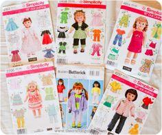 Dress patterns for American Girl Dolls!
