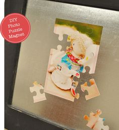 DIY Photo Puzzle Magnet