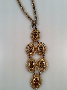 1970s Vintage Gold Plated Filigree PENDANT by thepopularjewelry, $14.95