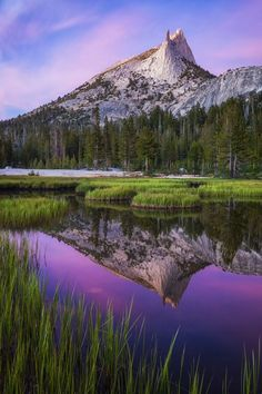Sunset at Cathedral Peak Yosemite National Park, California