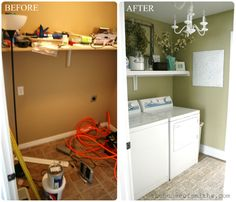 I love this Laundry Room Makeover! #ineedthis