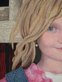 face, denis tallon, artquilt portrait, art quilt, quilts, portrait quilt