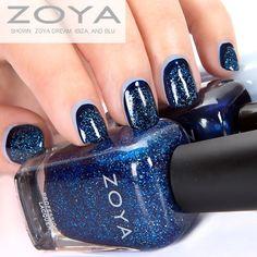 Zoya Nail Polish in Dream, Ibiza, and Blu