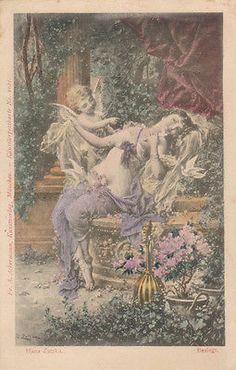 9-8/3- Vintage Art Card- Fairy Tales -HANS ZATZKA - BESEIGT