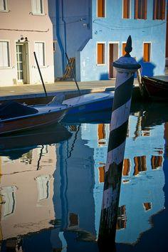 Blue Reflections - Burano, Italy