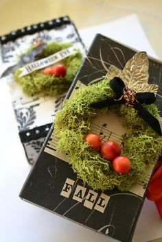 Altered Halloween boxes