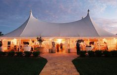 high class white tent