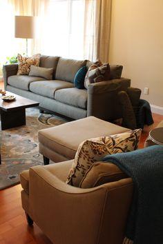 Clarke Fabric Sectional Sofa Living Room Furniture Sets Amp