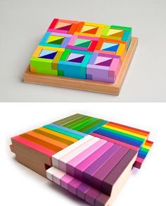 colorful wooden block sets by Brinca Dada