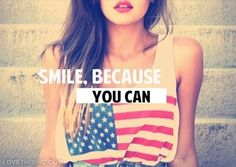 Smile because you can quotes quote girl smile tumblr girly quotes girl quotes girl sayings girl quote and sayings