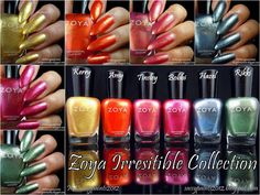 Sassy Paints: @Zoya Zinger Nail Polish The Irresistible Collection
