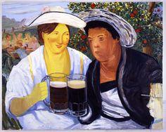 "Nicole Eisenman, ""Beer Garden"", 2007, Oil on canvas, 65"" x 82"" (165.1 x 208.28 cm)"