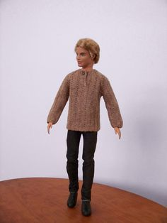 Brown pullover sweater for Ken