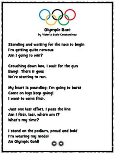 Olympic Race poem
