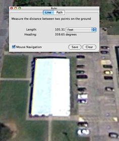 Google Earth for teaching perimeter and area -  could use to measure perimeter/area of the school you are at
