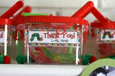 bug birthday, party favors, birthday parti, hungry caterpillar party, caterpillar birthday