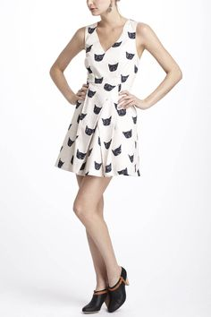 {Feline Karma Dress} Leah Goren via Anthropologie - this dress is purrfect!