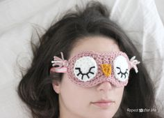 Repeat Crafter Me: Crochet Sleepy Owl Mask