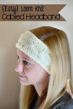 DIY Loom Knit Cable Headband - Handmade Is Better