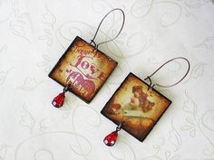 Vintage Valentine Earrings  Valentine Jewelry