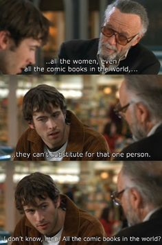 Stain Lee: …all the women, even all the comic books in the world, they can't substitute for that one person. Brodie: I don't know, man. All the comic books in the world? #Mallrats