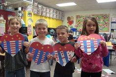 patriotic hearts for Presidents Day