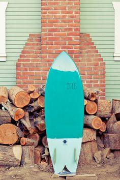 turquoise surfboard