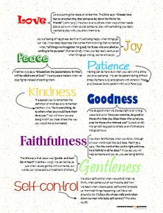 Fruit of the Spirit Printable for kids - page 3
